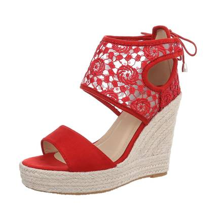 Damen Wedges - red