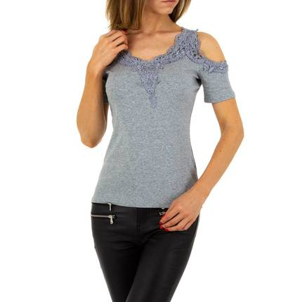 Damen Top von Voyelles - grey