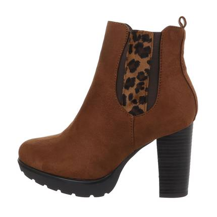 Damen High-Heel Stiefeletten - lightbrown