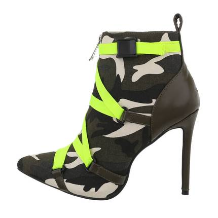 Damen High-Heel Stiefeletten - green