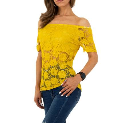 Damen Bluse von Whoo Fashion - yellow