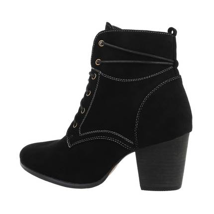 Damen High-Heel Stiefeletten - black