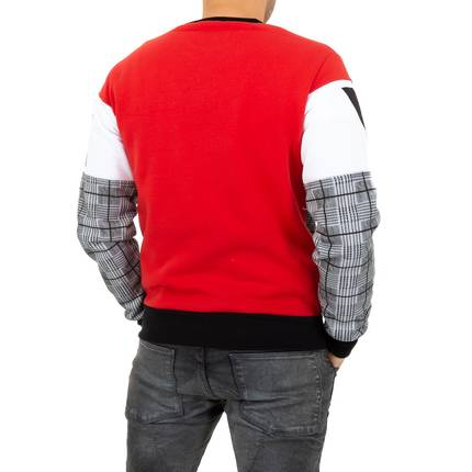 Herren Pullover von Play Back - red