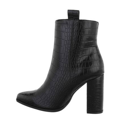 Damen High-Heel Stiefeletten - blackcroc