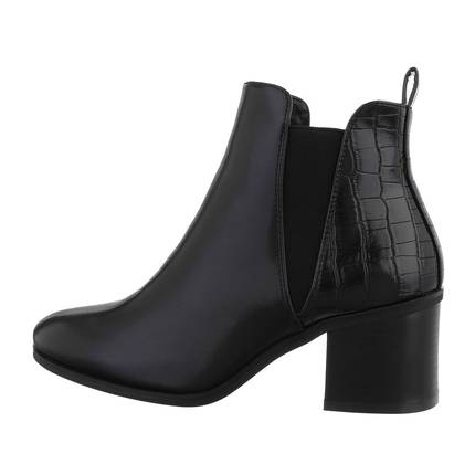 Damen High-Heel Stiefeletten - blackpu