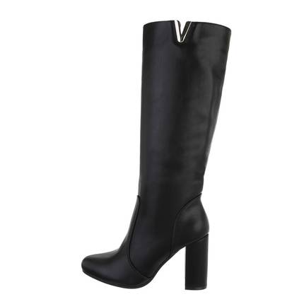 Damen High-Heel Stiefel - blackpu